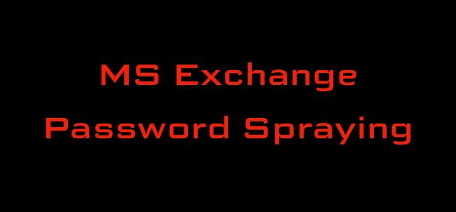Microsoft Exchange Password Spraying